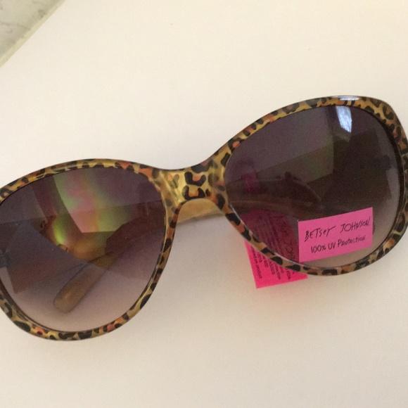 c298760639 Betsey Johnson Cat Eye Cheetah Print Sunglasses